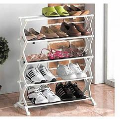 Стойка подставка органайзер для хранения обуви Shoe Rack 5 полок на 15 пар обуви ZZ, КОД: 1994449