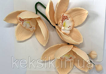 Мастичные фигуры Slado - Веточка Орхидеи №1 персиковая