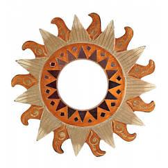 Дзеркало мозаїчне Arjuna Сонце d-30 см 30261 Золотистий 45503 ZZ, КОД: 1258490