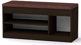 Тумба для обуви ТО-17 Компанит Венге темный 100х37,2х50 см ZZ, КОД: 2619558