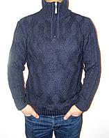 """Вязаный стильный мужской свитер с принтовой вязкой  """"4740"""""""