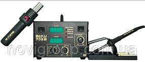 Паяльна станція BAKKU BK852D + компресорна цифрова індикація, фен, паяльник (325*275*202) 4,46 кг