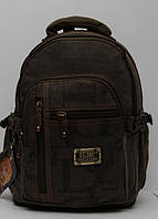 Чоловічий мужской брезентовый рюкзак Gold Be / GoldBe