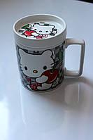 """Подарочная керамическая чашка """"Hello Kitty""""."""