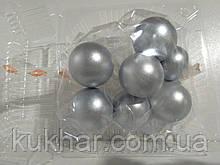 Желатинові кульки для прткрашання тортів Срібні (7шт)