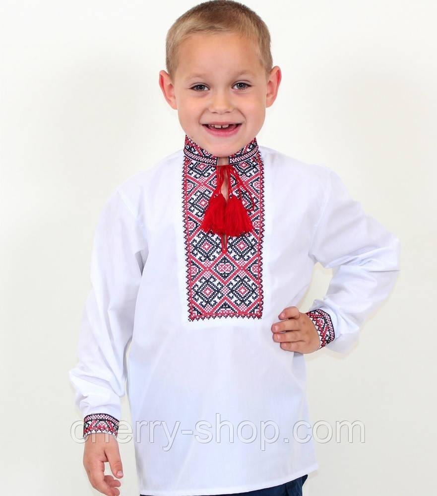 Детская вышиванка для мальчика с красивой вышивкой , 7-12 лет
