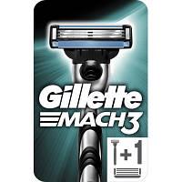 Бритва Gillette Mach3 с 2 сменными картриджами (7702018020706)