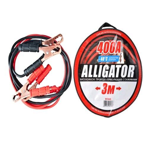 "Пускові проводу 400А 3м ""Alligator"" (BC643) сумка (12шт/ящ)"