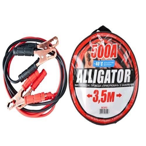 """Пусковые провода 500А 3,5м """"Alligator"""" (BC652) сумка   (10шт/ящ)"""