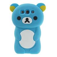 """Голубой силиконовый чехол """"Мишка"""" Samsung Galaxy S3/S3 duos, фото 1"""