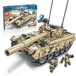 """Конструктор SEMBO BLOCK 105562 """"Основной боевой танк VT-4"""" 432 деталей."""