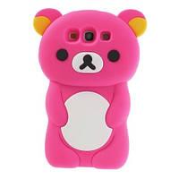 """Розовый силиконовый чехол """"Мишка"""" Samsung Galaxy S3/S3 duos, фото 1"""