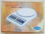 Электронные кухонные весы до 7 кг+батарейки, фото 3