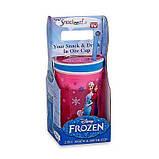Кружка непроливайка Frozen Disney,гуртка дитяча,поїлка для дітей,стакан непроливайка з трубочкою, фото 4