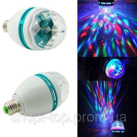 Диско лампа LED lamp обертається для вечірок