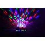 Диско лампа LED lamp обертається для вечірок, фото 3