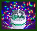 Диско лампа LED lamp обертається для вечірок, фото 8
