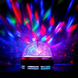 Диско лампа LED lamp обертається для вечірок, фото 9