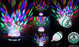 Диско лампа LED lamp обертається для вечірок, фото 10