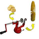 Универсальная машинка нарезки овощей и фруктов спиралью Spiral Potato Chips, фото 9