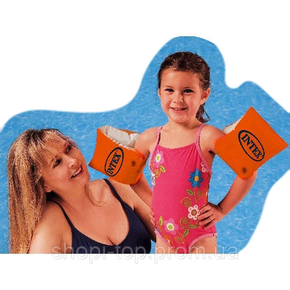 Надувные детские нарукавники Intex Интекс 58641  30*15см  Надувные нарукавники Intex 58641 из винила.