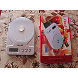 Кухонные весы до 7 кг (SCA-301) с батарейками, фото 5