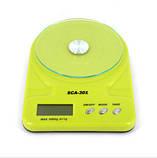 Кухонные весы до 7 кг (SCA-301) с батарейками, фото 7