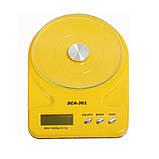 Кухонные весы до 7 кг (SCA-301) с батарейками, фото 9