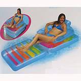 Матрас пляжный 198*94 см кресло Intex (58870), фото 5