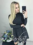 Платье женское Ангора Софт с ЛЮРЕКСОМ , 42-44, 44-46 ,Цвета: меланж, графит, код 0296, фото 3