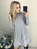 Платье женское Ангора Софт с ЛЮРЕКСОМ , 42-44, 44-46 ,Цвета: меланж, графит, код 0296, фото 4