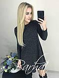Платье женское Ангора Софт с ЛЮРЕКСОМ , 42-44, 44-46 ,Цвета: меланж, графит, код 0296, фото 6