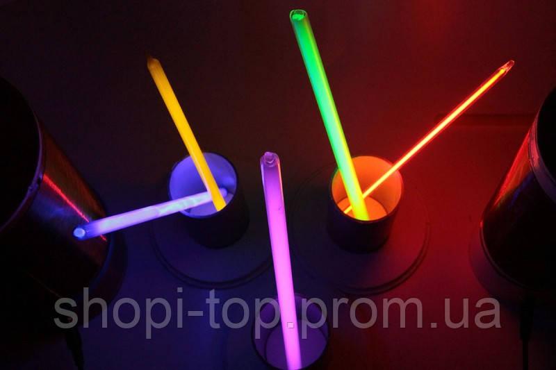 Неонові браслети,light stick, glow stick, 100 шт. Неонові світяться палички