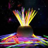 Неонові браслети,light stick, glow stick, 100 шт. Неонові світяться палички, фото 2