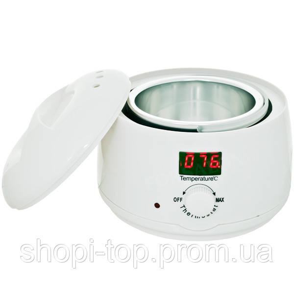 Нагрівач воскоплав для воску і цукрової пасти з індикатором температури. 400 мл
