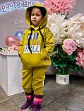 Костюм для дівчинки штани і кофта,футер в три нитки,З начосом «спів», 122;128;134;140;146, 7 квітів, мод 0805, фото 2