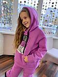 Костюм для дівчинки штани і кофта,футер в три нитки,З начосом «спів», 122;128;134;140;146, 7 квітів, мод 0805, фото 3