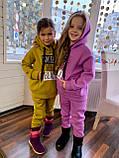 Костюм для дівчинки штани і кофта,футер в три нитки,З начосом «спів», 122;128;134;140;146, 7 квітів, мод 0805, фото 4
