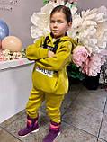 Костюм для дівчинки штани і кофта,футер в три нитки,З начосом «спів», 122;128;134;140;146, 7 квітів, мод 0805, фото 5