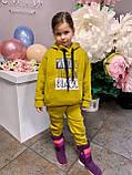 Костюм для дівчинки штани і кофта,футер в три нитки,З начосом «спів», 122;128;134;140;146, 7 квітів, мод 0805, фото 6