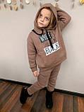 Костюм для дівчинки штани і кофта,футер в три нитки,З начосом «спів», 122;128;134;140;146, 7 квітів, мод 0805, фото 7