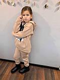 Костюм для дівчинки штани і кофта,футер в три нитки,З начосом «спів», 122;128;134;140;146, 7 квітів, мод 0805, фото 8