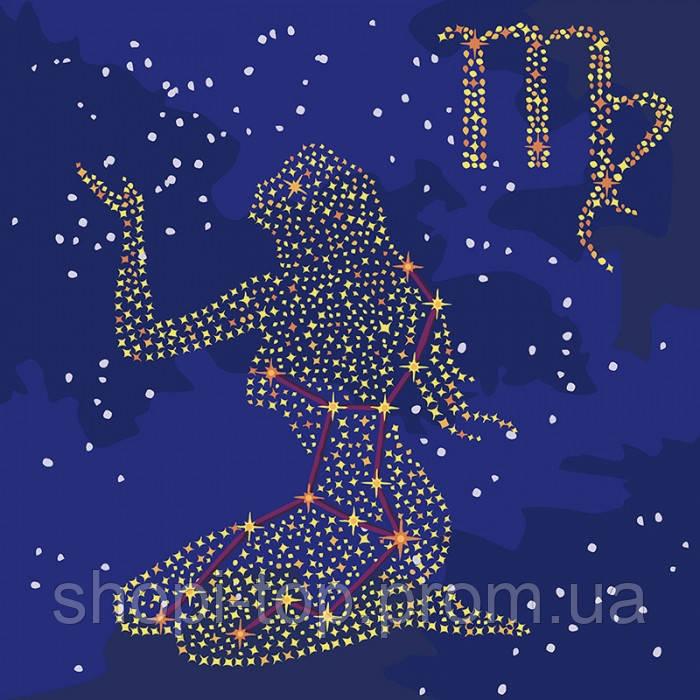 Картина по номерам - Звездный знак Дева с краской металлик (КН9512)