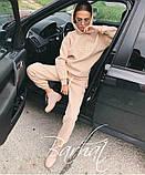 Жіночий модний костюм FIGHT,Турецька Трехнить на ФЛІСІ, двійка штани+кофта з капюшоном ,розміри-S, M ,Код.0436, фото 2
