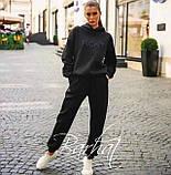 Жіночий модний костюм FIGHT,Турецька Трехнить на ФЛІСІ, двійка штани+кофта з капюшоном ,розміри-S, M ,Код.0436, фото 4