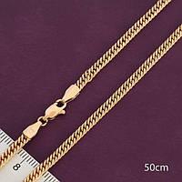 Ланцюжок xuping 3мм 50см позолота 18к панцирні ц700