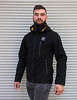 Чёрная мужская ветровка Adidas   100% полиэстер   без утеплителя мужская одежда осень весна лето