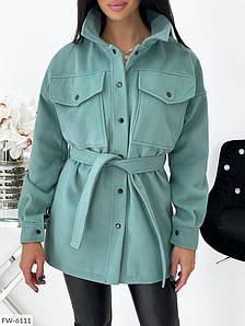 Женское Пальто под пояс кашемировое 42-44, 46-48, 50-52