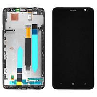 Nokia Lumia 1320 LCD, модуль, дисплей с сенсорным экраном с рамкой в сборе