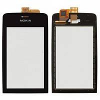 Nokia Asha 308 LCD, модуль, дисплей с сенсорным экраном с рамкой в сборе